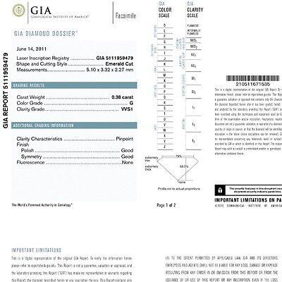 1.87 CARAT G VS1 GIA CERTIFIED EMERALD CUT DIAMOND ENGAGEMENT RING IN PLAT950 5