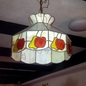 Beautiful vintage Tiffany stain glass style fixture