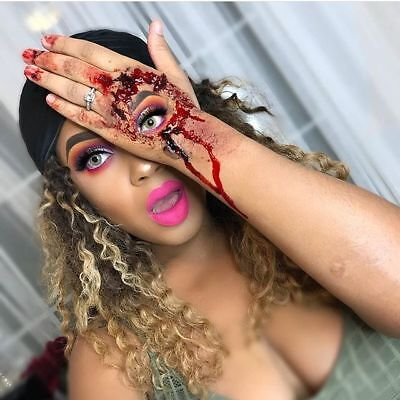 USA Long Halloween Dress Wigs Afro Curly Ombre Blonde Black Red Wigs For Women - Halloween Afro