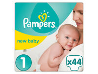 3 Packs Of Pampers Premium Protection New Baby Nappies 44 pack size 1