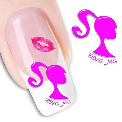 1235 Transfer (Nail Art Sticker Water Decals Transfer Stickers Love Me (XF1235))