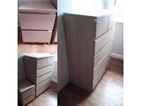 Pair of chest of 6 & 2 drawers to sell - Wandsworth common