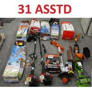 31 ASSTD POWER TOOLS LOT - 119602190 - EDGER TRIMMER BLOWER LAWN CARE GRASS MAINTENANCE SEE COMMENTS