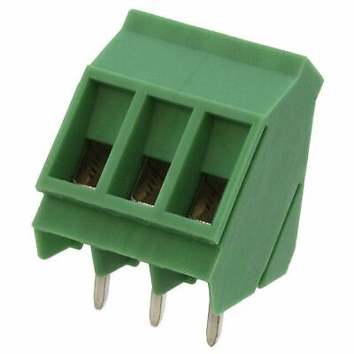 Pack Of 2 1713037  Terminal Block 3 Position 35deg 5mm Pcb