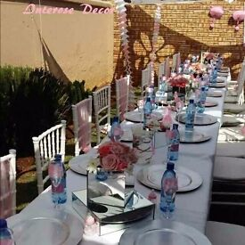 Event Decoration Centrepieces and Linen for Hire
