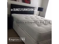 New double beds with choice of mattress &139 delivered