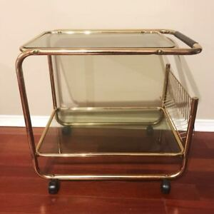 Vintage gold cart/table