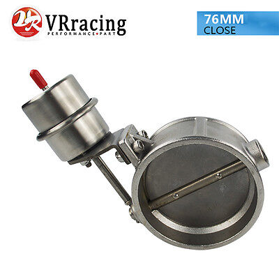 3'' 76MM Vacuum Activated Exhaust Cutout Valve Close Style Pressure About 1Bar