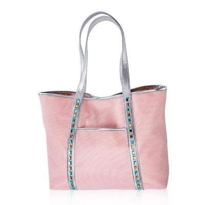 Ladies Large Pink Totebag with Gemstones on Bag  - It Sparkles & Shines!!   , used for sale  Shipping to India