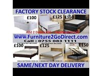 Valuable range of quality new bed frame with mattress.