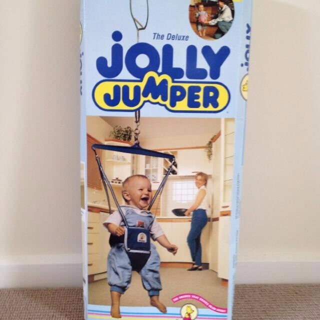 970aebbbf AS NEW - Deluxe JOLLY JUMPER inc Foot Rattles