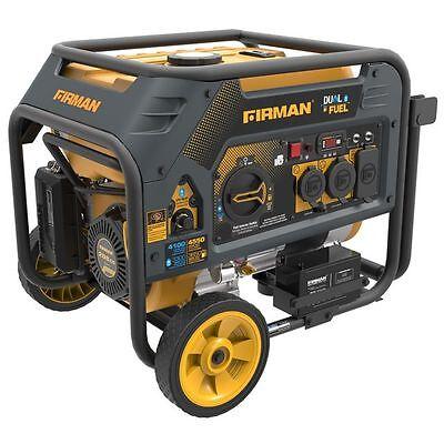 Firman Power Equipment Dual Fuel Gas/Propane 4550W Generator H03651