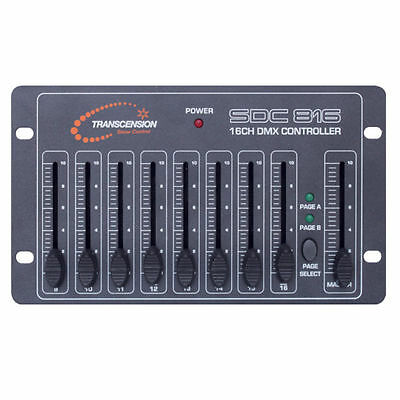 Transcension SDC816 DMX Controller - 16 chan Stage Disco Lighting dimmer desk