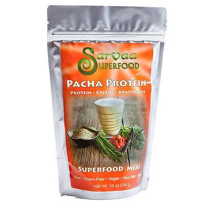 Sarvaa Superfood Pacha Protein   Organic  Vegan  Raw Meal Protein Powder 10 Oz