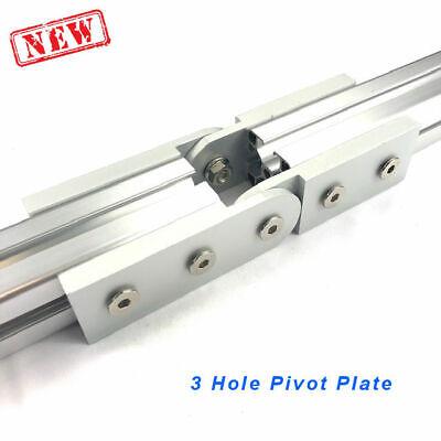 3 Hole Pivot Plate 4040 8020 Aluminum Profile Extrusion Accessory Set Of 2