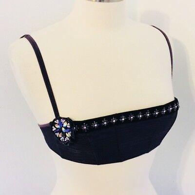 VICTORIA'S SECRET 34 C Bra Purple Jeweled Balconette Shelf Unpadded No Cups for sale  Boring