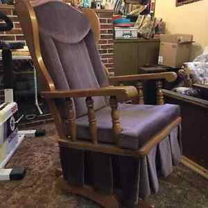 Nice upright Rocking chair Strathcona County Edmonton Area image 2