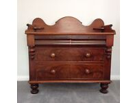Wooden chest - antique mahogany