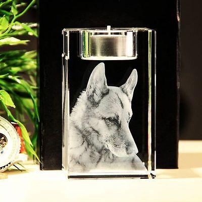 Kerze 3D Foto Glas Würfel Persönlich Personalisiert Geschenkidee zu Weihnachten