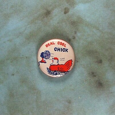 Chicken Novelties (Vintage Style Novelty Comic Art  Pinback Button 1