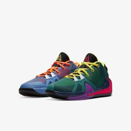 Nike Zoom Freak 1 Roots Basketball Shoes Multi-Color CU1486-800 Youth NEW