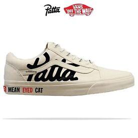 Patta x Vans Old Skool in white UK 6.5