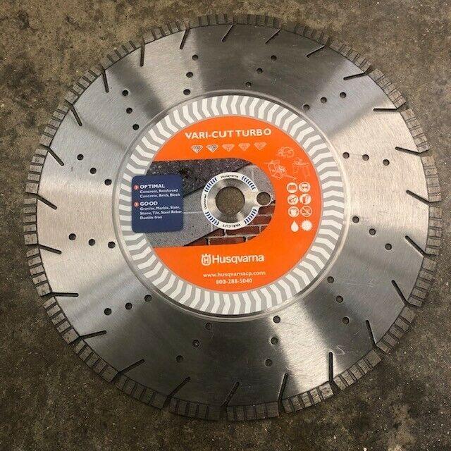 "Husqvarna Vari-Cut Turbo Diamond Saw Blade 14 inch 1"" Arbor"