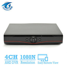 ahd 4 channel dvr 1080p for cctv cameras with xmeye app phone view