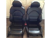 BMW 3 Series E46 M3 Coupe Black Electric Leather Interior Seats