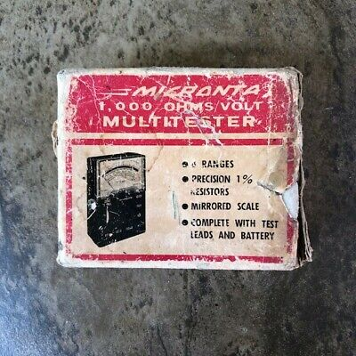 Vintage Micronta 1000 Ohmsvolt Multitester 22-027b With Box