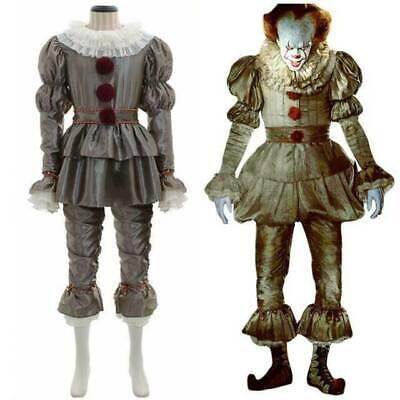 Pennywise Das Clown Festgeleg Outfits Es Stephen King Cosplay Karneval Kostüm NE