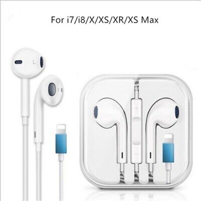 Wired BLUETOOTH earphones stereo headphones lightning for Iphone 7 8 PLUS X 11
