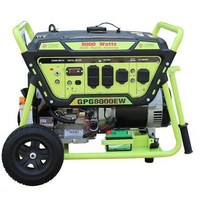 Green-Power America 8000 Watt 15 HP Portable Gas Power Generator/Electric Start
