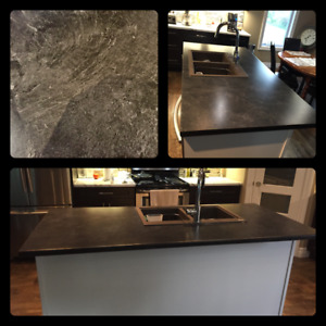 Black/Grey marble counter top