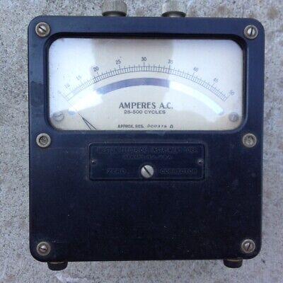 Analog Ampere Meter Rang 0 --- 50 A Weston Electrical Instrument