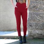 Highwaisted pantalons broeken stretch skinny taille pants