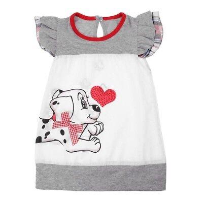 NEW Puppy Dog Sequin Heart Girls Sleeveless White Dress Valentines Day](Girls Valentine Dresses)