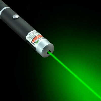 Military 5mw High-powered Green Laser Pointer Pen Lazer 532nm Visible Beam Light
