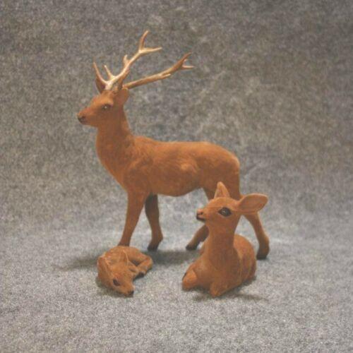 Deer Family Flocked 3 Piece Set #51007074