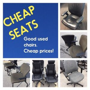 USED OFFICE CHAIRS, GOOD CHAIRS, ALL PRICED FOR QUICK SALE