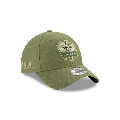 New Orleans Saints New Era 2019 Salute to Service 9TWENTY Adustable Hat - Olive