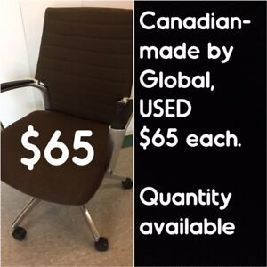 USED OFFICE CHAIRS, STRONG & STURDY, CANADIAN-made