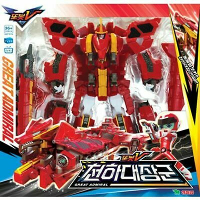 Tobot V Great Admiral Transform Dragon Robot Integrate Action Toy Figure_SU