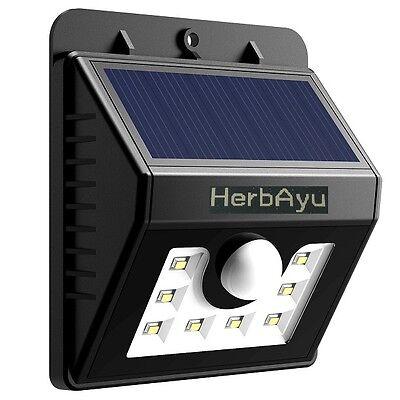 8 LED Solar Power Motion Sensor Wall Light Outdoor Waterproof Garden Lamp USA