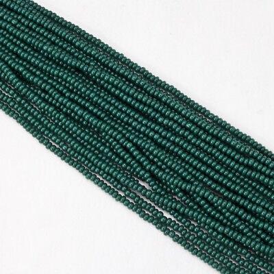 10/0 Opaque Forest Green Czech Seed Bead (10 Gm, Hank, 1/2 Kilo) #CSF064