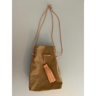 MORMYRUS Japan Camel Leather Strap & Tassel Shoulder Bag RRP$124 75%OFF