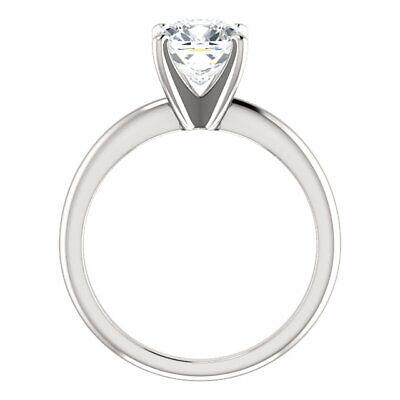 Charming 1.50 Ctw Cushion Cut Diamond Engagement Ring 18K White Gold H VS2 GIA 4