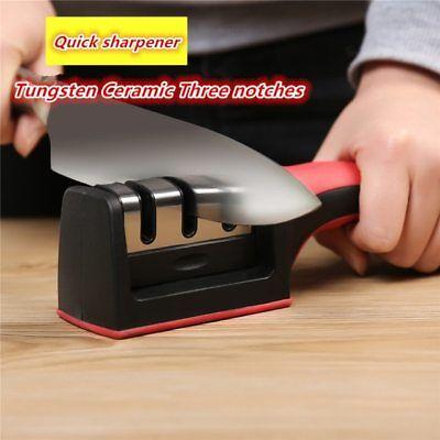 Knife Sharpener Quick Sharpener 3 Stages Sharpener Knife Grinder Silicone Rubber