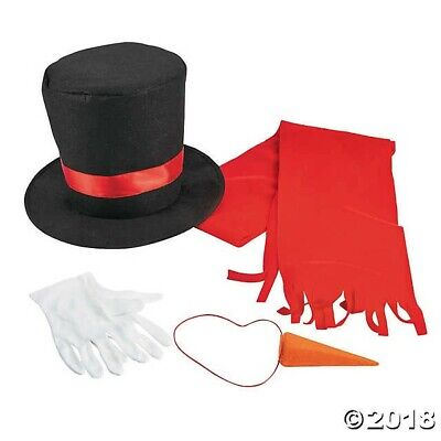 Adult Snowman Costume (Christmas Halloween Party Adult UNISEX Snowman Costume Kit HAT GLOVES SCARF)