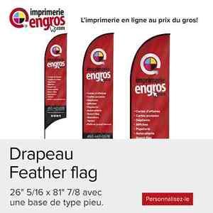 Drapeau Feather Flag personnalisé  ☏ 450-447-0578